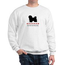 Havanese (red stars) Sweatshirt