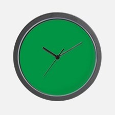 Shamrock Green Solid Color Wall Clock