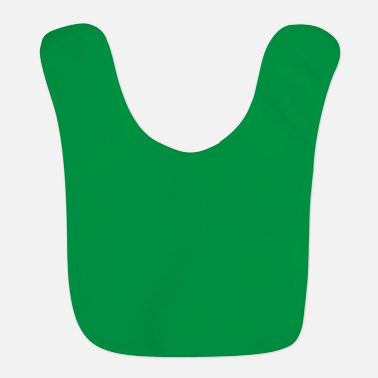 Shamrock Green Solid Color Bib