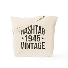 Hashtag 1945 Vintage Tote Bag