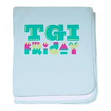 TGI Friday baby blanket