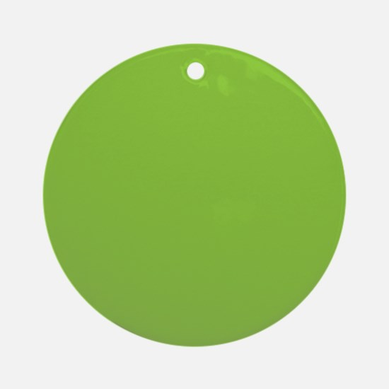 Spring Green Solid Color Ornament (Round)