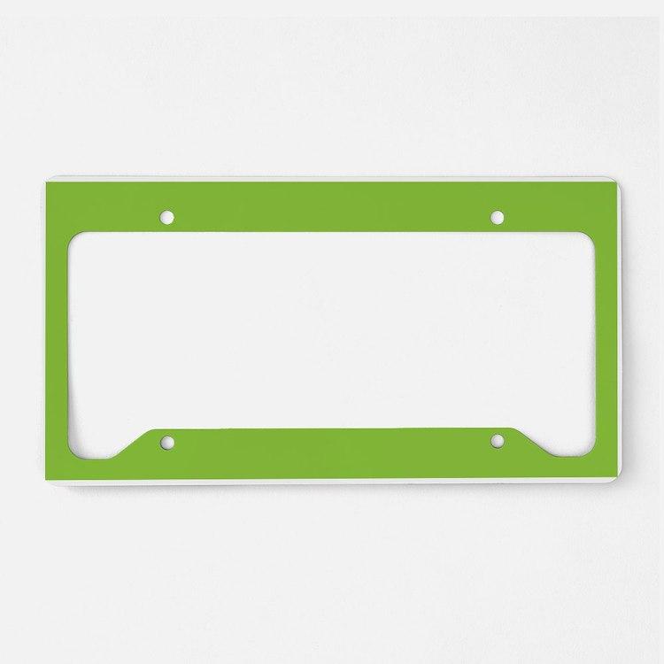 Spring Green Solid Color License Plate Holder