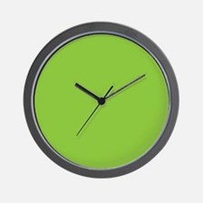Spring Green Solid Color Wall Clock