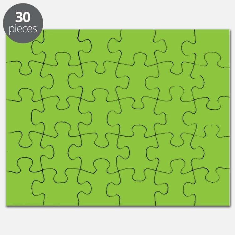 Spring Green Solid Color Puzzle