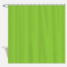 Spring Green Solid Color Shower Curtain