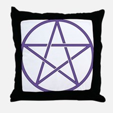 Purple Pentagram Throw Pillow