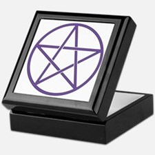 Purple Pentagram Keepsake Box