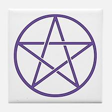 Purple Pentagram Tile Coaster