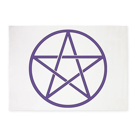Purple Pentagram 5u0027x7u0027Area Rug