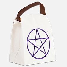 Purple Pentagram Canvas Lunch Bag