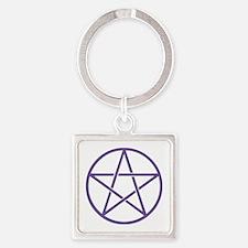 Purple Pentagram Keychains