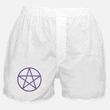 Purple Pentagram Boxer Shorts