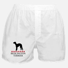 Bedlington Terrier (red stars Boxer Shorts