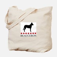 Beauceron (red stars) Tote Bag