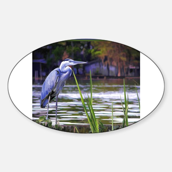 Blue Heron Sketch Decal