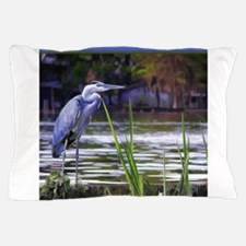 Blue Heron Sketch Pillow Case