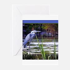 Blue Heron Sketch Greeting Cards