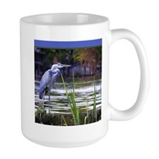 Blue Heron Sketch Mugs