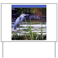 Blue Heron Sketch Yard Sign