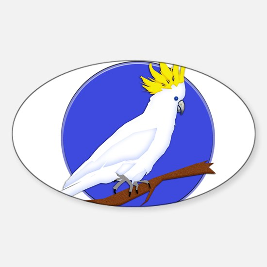 Yellow Crested Tropical Cockatoo Decal
