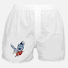 Metallic Grunge Eagle Tattoo Boxer Shorts