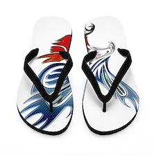 Metallic Grunge Eagle Tattoo Flip Flops