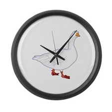 White Goose Large Wall Clock