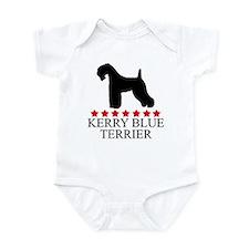 Kerry Blue Terrier (red stars Infant Bodysuit