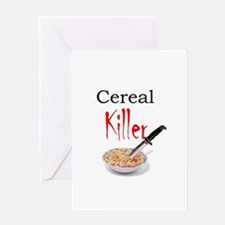 cereal killer Greeting Cards