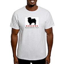 Keeshound (red stars) T-Shirt