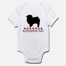 Keeshound (red stars) Infant Bodysuit