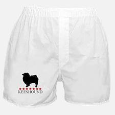 Keeshound (red stars) Boxer Shorts