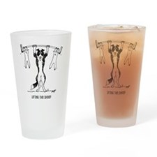 Unique Weight lifting Drinking Glass