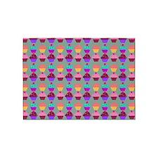 Yummy Sweet Cupcake Pattern 5'x7'Area Rug