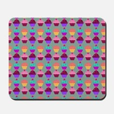 Yummy Sweet Cupcake Pattern Mousepad