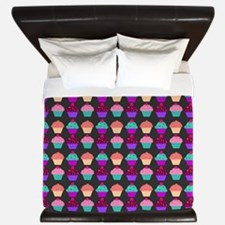 Yummy Sweet Cupcake Pattern King Duvet