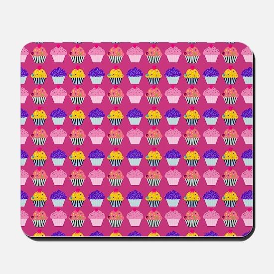 Yummy Sweet Cupcake Pattern Mousepad