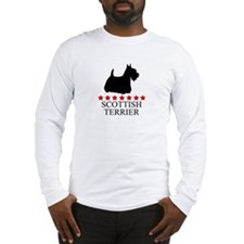 Scottish Terrier (red stars) Long Sleeve T-Shirt