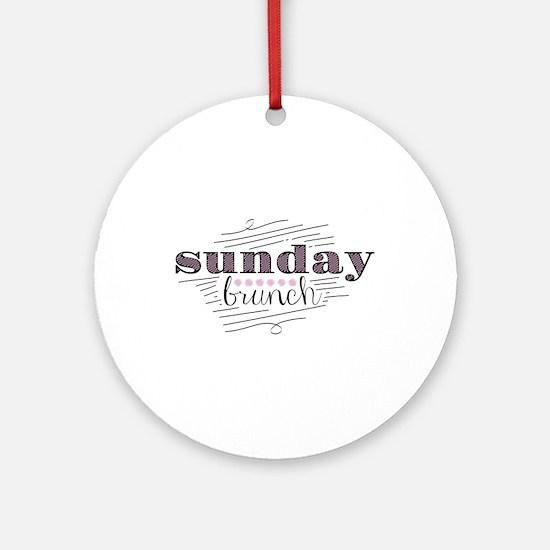 Sunday Brunch Ornament (Round)
