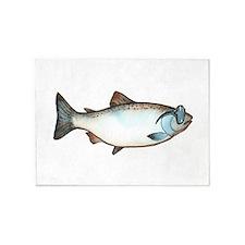 Cool Salmon 5'x7'Area Rug