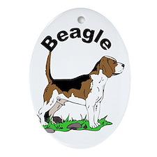 Beagle-1 Oval Ornament