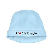 beagle love baby hat