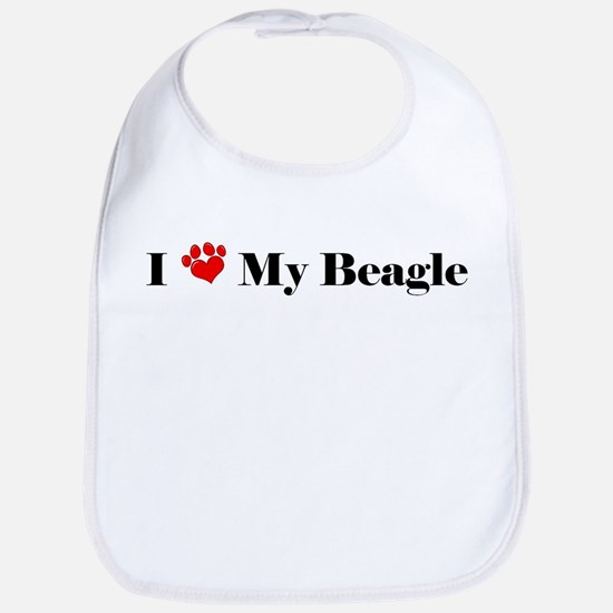 beagle love Bib