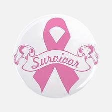 """breast cancer survivor 3.5"""" Button (100 pack)"""