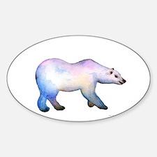 Polar Bear winter Christmas Card, Watercol Decal