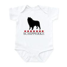 Schipperke (red stars) Infant Bodysuit