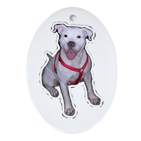 """Holiday """"Gracie"""" Oval Ornament"""
