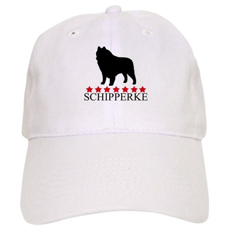Schipperke (red stars) Cap