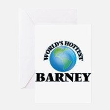 World's Hottest Barney Greeting Cards